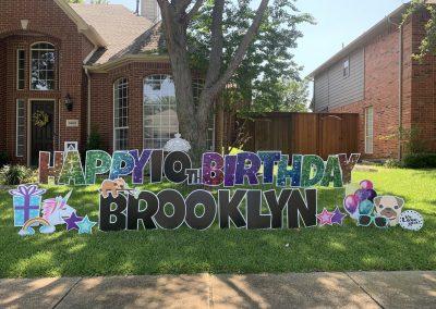 Yard Sign Rental For Birthday Celebrations