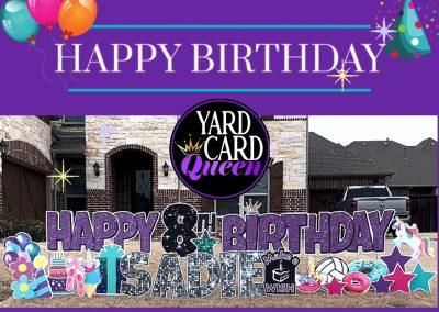 Birthday Yard Sign Rental Rockwall Texas