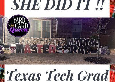 College Graduation Yard Sign Rockwall, TX