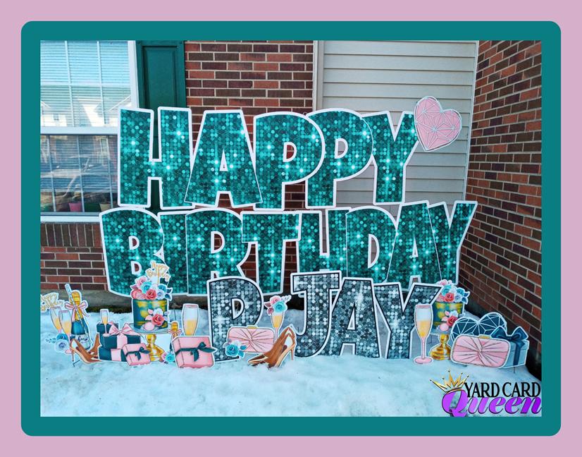 Fun Birthday Yard Sign Rental Detroit