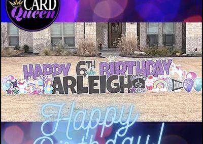 Girl Themed Happy Birthday Yard Sign