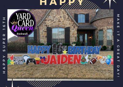 Happy 16th Birthday Yard SIgn Rental Rockwall TX