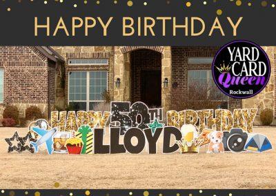 Happy 50th Birthday Yard Sign Rockwall, TX