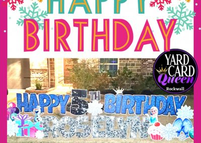 Happy Birthday Glitter Yard Sign Rockwall, Texas