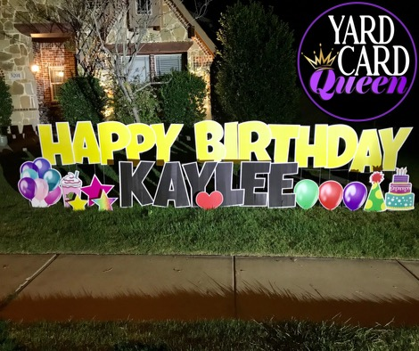 Happy Birthday Yard Sign Rental Arlington Texas