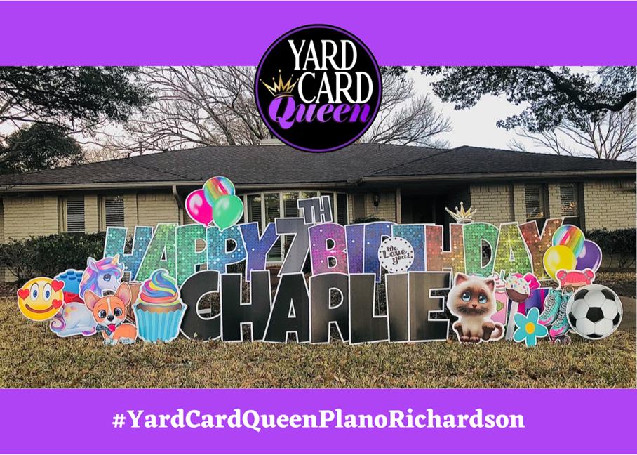 Happy Birthday Yard Sign Rental Company Plano Texas