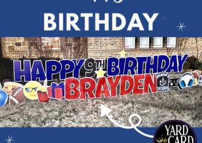 Happy Birthday Yard Sign Rental Rockwall, Texas