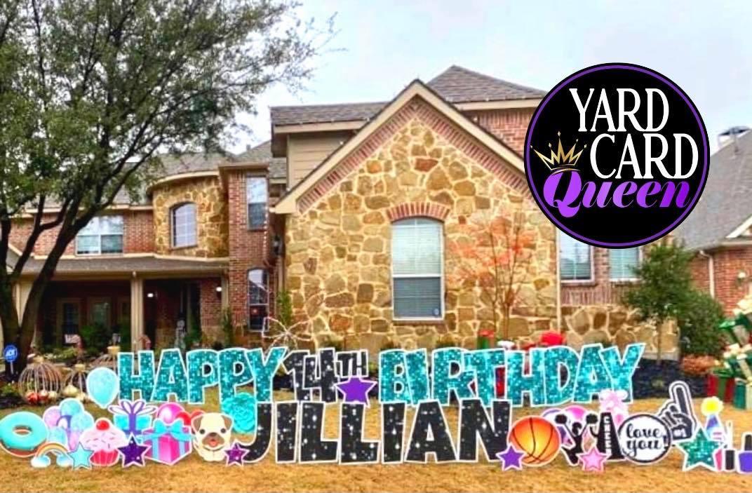 San Antonio Texas Happy Birthday Yard Signs That Cover Your Lawn