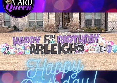 Happy Birthday Yard SIgn Rental Rockwall TX