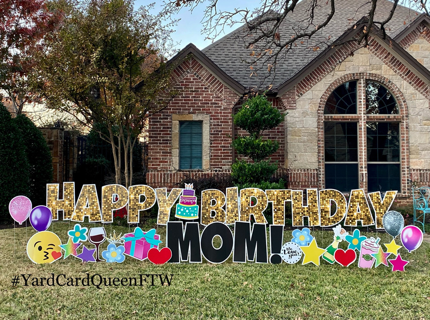 Yard Sign Rental Happy Birthday Fort Worth, Texas