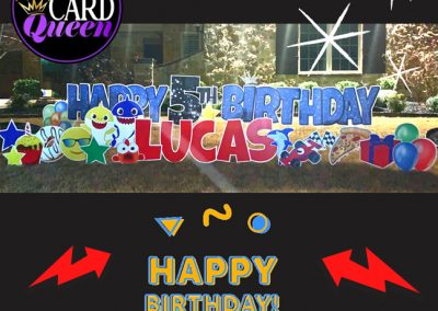 Happy Birthday Yard Stakes Rockwall, TX