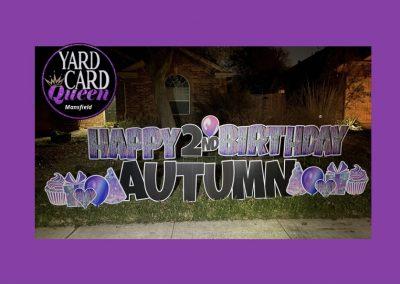 2nd Birthday Yard Sign Near Me Mansfield, TX