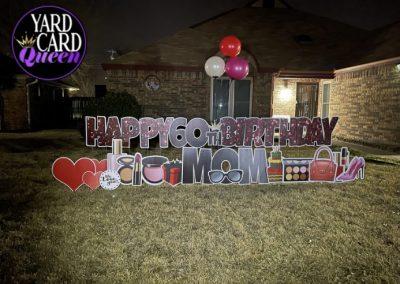 60th Birthday Yard Sign Mansfield, Texas