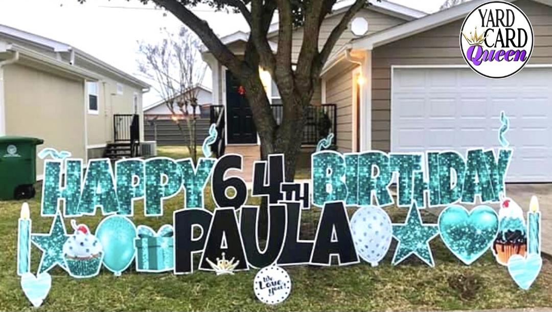 Big Happy Birthday Lawn Sign Rental