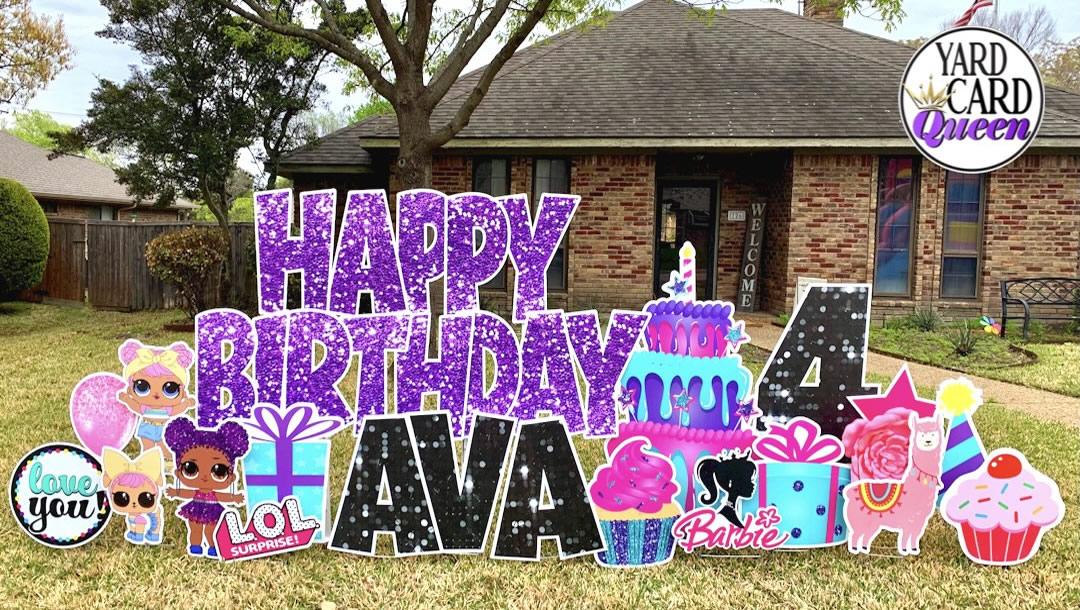 Big Happy Birthday Yard Sign Rental