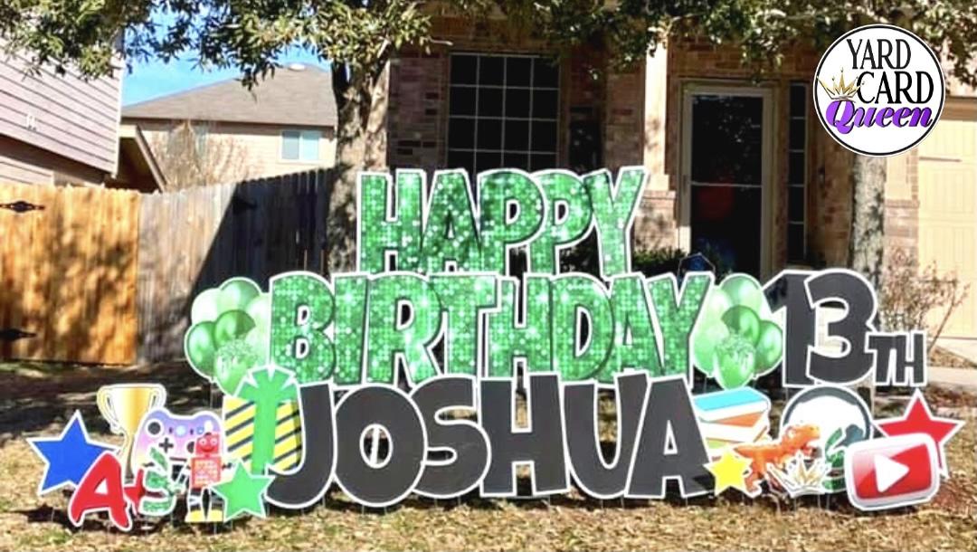 Happy 13th Birthday Yard Sign