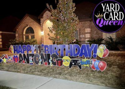 Birthday Lawn Signs Rental Mansfield, Texas
