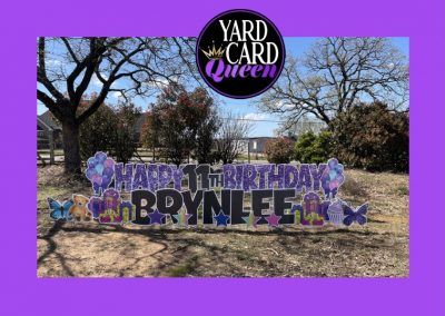 Birthday Yard Signs Rental Mansfield, TX