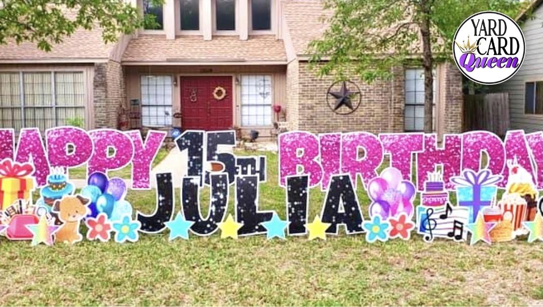 Celebration Happy Birthday Yard Sign Rental