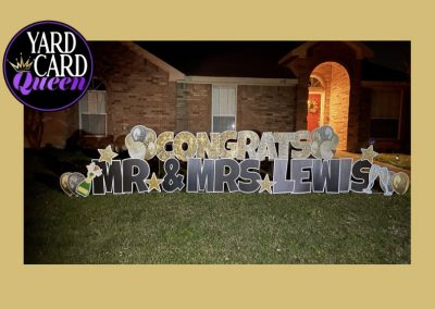 Congratulations Yard Sign Rental Mansfield, TX