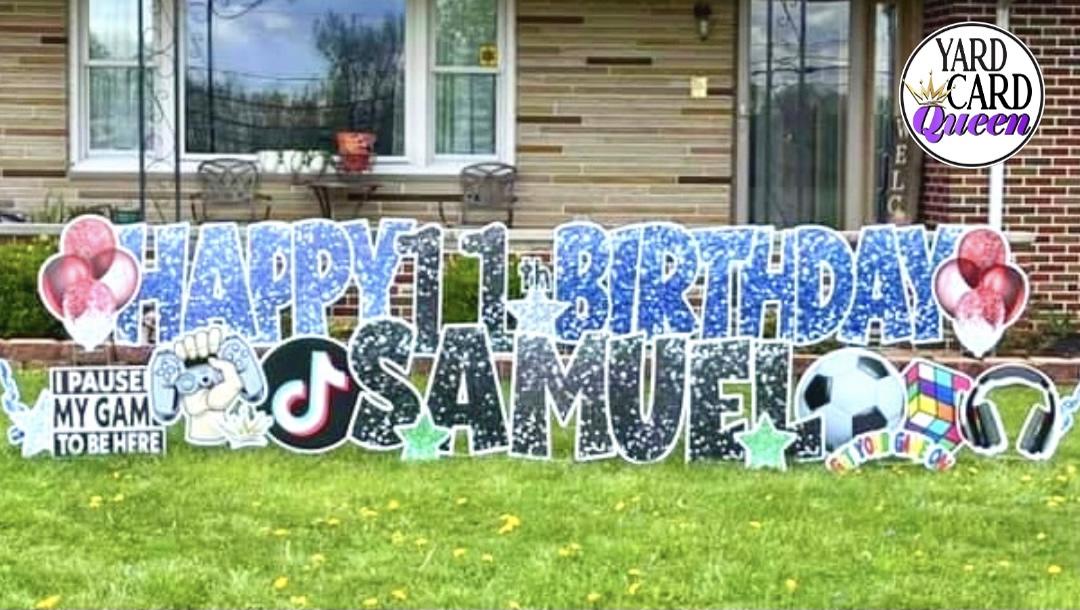 Fun Happy Birthday Yard Sign Rentals