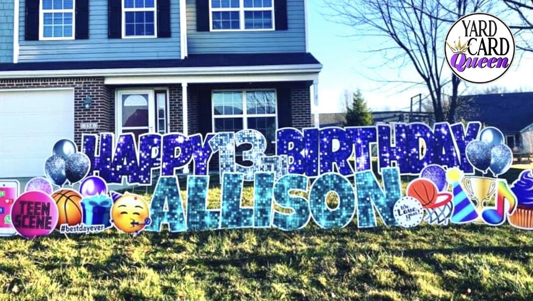 Happy 13th  Birthday Yard Sign Rental
