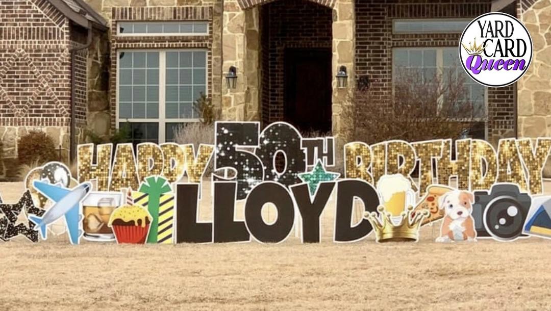Happy 50th Birthday Yard Sign Rental Near Me