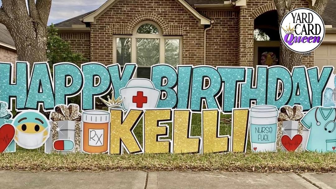 Happy Birthday Big Yard Sign
