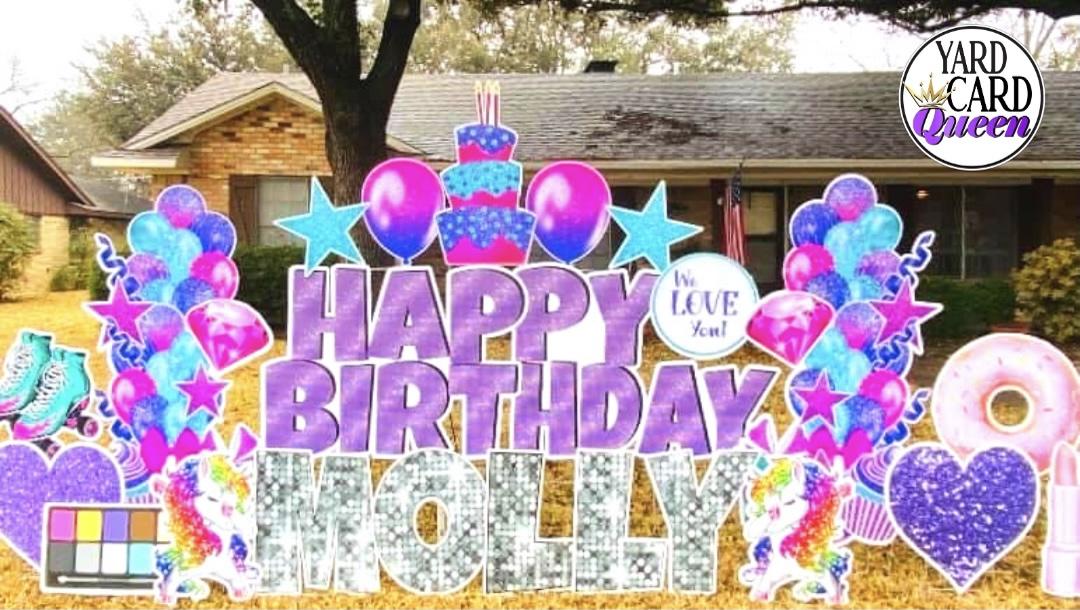 Happy Birthday Large Sign Rental