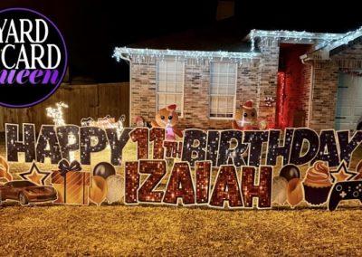 Happy Birthday Lawn Letters Mansfield, TX