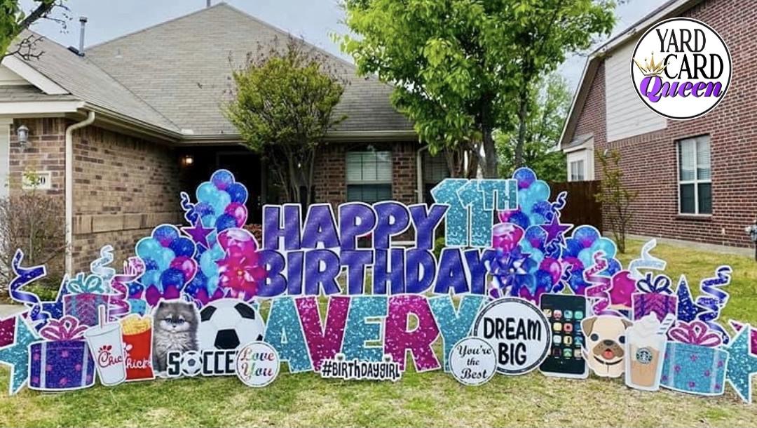 Happy Birthday Lawn Sign Rental Near Me