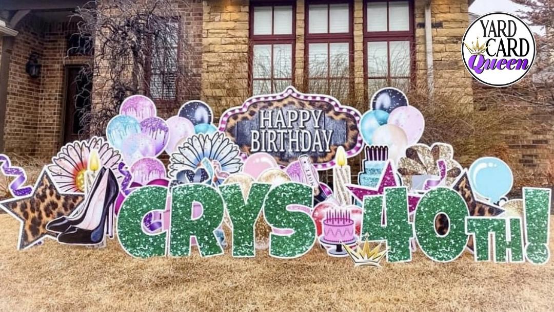Happy Birthday Lawn Sign Rentals