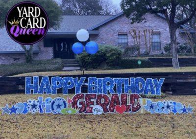 Happy Birthday Yard Art Signs Mansfield, Texas