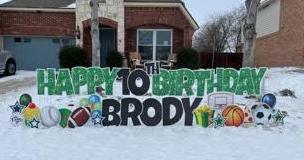 Happy Birthday Yard Sign Greeting Wylie Texas