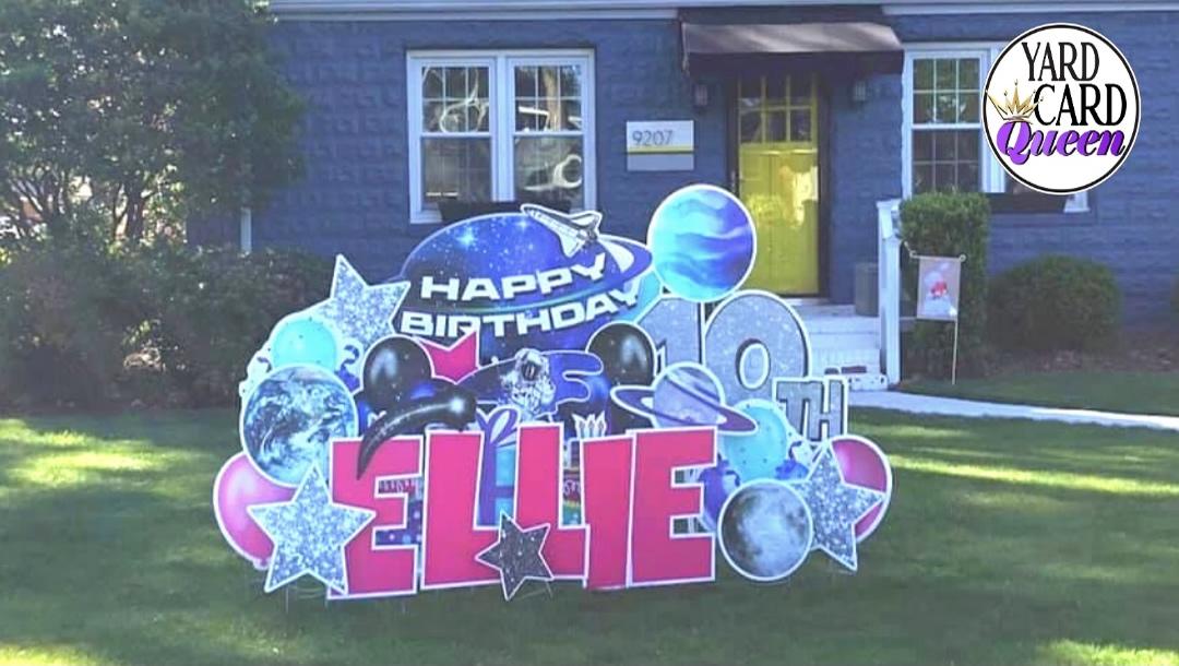 Happy Birthday Yard Sign Rental Near Me