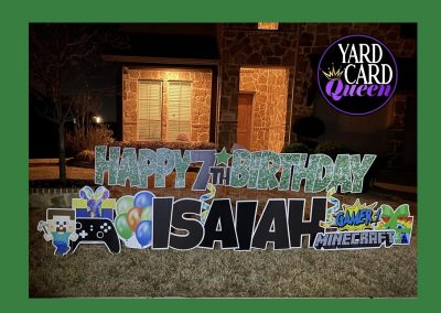 Happy Birthday Yard Sign Rental Near Me Mansfield