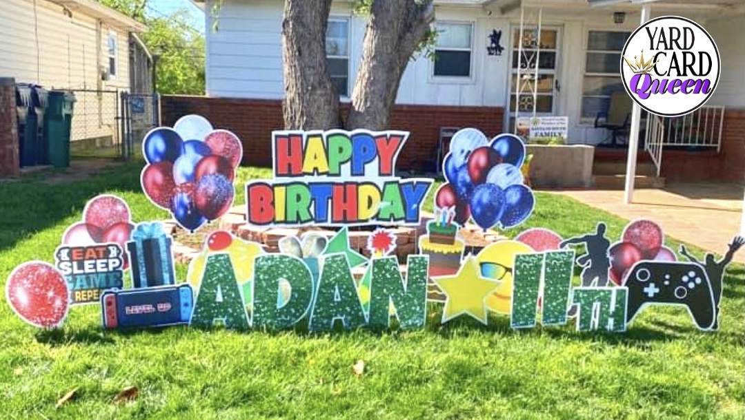 Happy 11th Birthday Yard Sign Rental