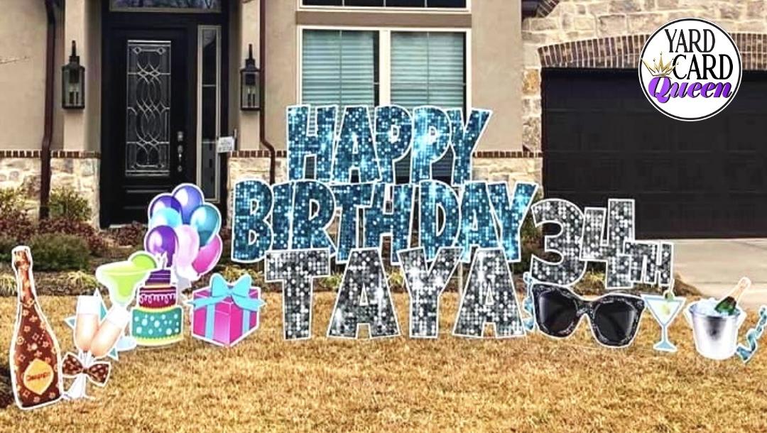 Fun Happy Birthday Yard Sign