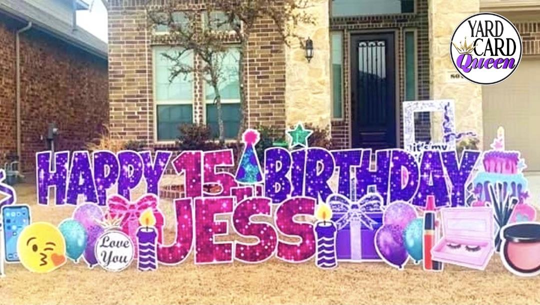 Happy 15th Birthday Yard Signs Near Me