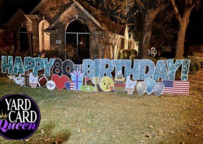 Happy Birthday Yard Stakes Mansfield, TX