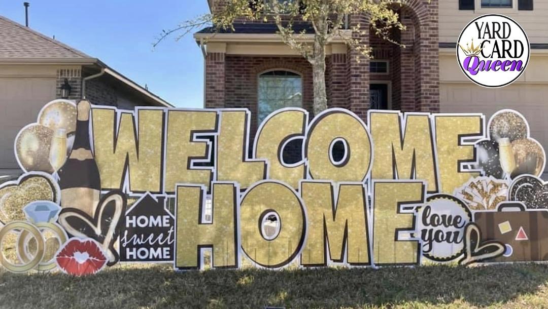 Welcome Home Yard Sign Rental