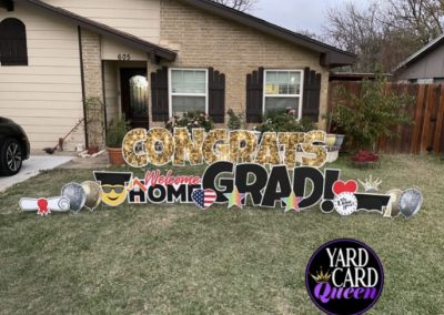 Welcome Home Graduate Yard Sign