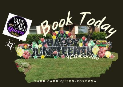 Happy Juneteenth Yard Sign Rental Cordova, TN