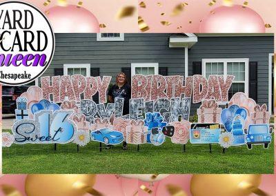 Happy Sweet 16 Birthday Yard Sign