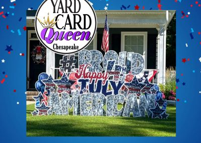 Happy 4th of July Yard Sign