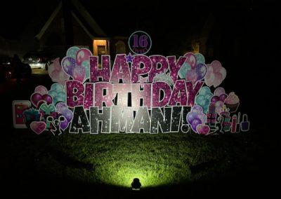 Big Yard Sign Happy Birthday Sweet 16 Cordova, TN
