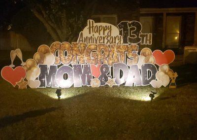 Happy Anniversary Yard Sign Rental in Cordova