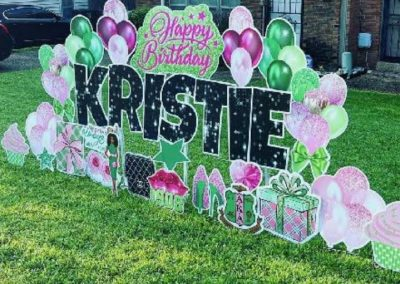 Happy Birthday Yard Sign Rental