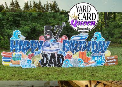 Big Happy Birthday Yard Sign Rental Chesapeake, Virginia