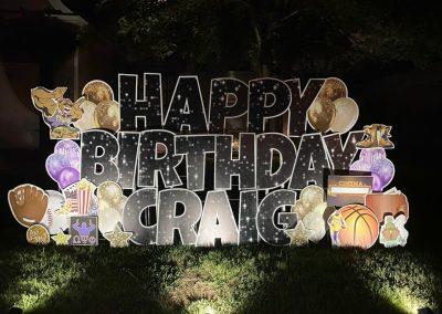 Fun Happy Birthday Yard Sign Rental Company Cordova, TN